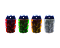 Can Coolers Assortment 1: Green, Clear, Red, Yellow-CNK-1001