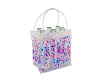 The Cool Sack - Beaded 6Pk - Pink, Blue, Clear-CS8108