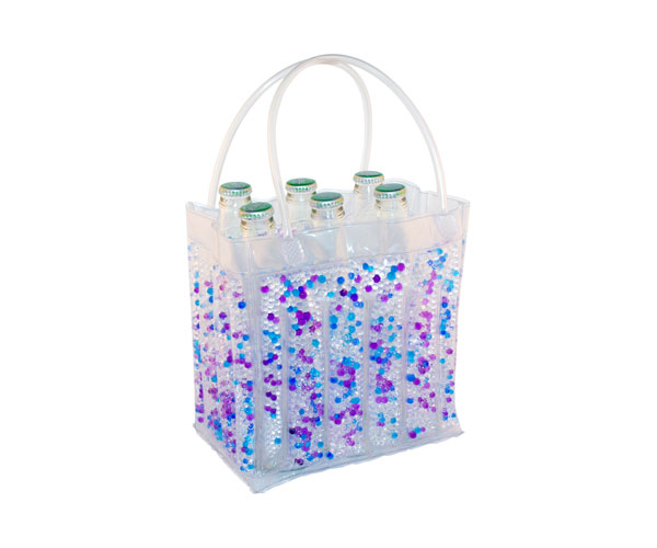 The Cool Sack - Beaded 6Pk - Blue, Purple, Clear