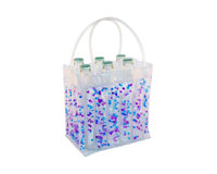 The Cool Sack - Beaded 6Pk - Blue, Purple, Clear-CS8109