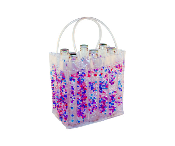 The Cool Sack - Beaded 6Pk - Blue, Purple, Clear, Pink