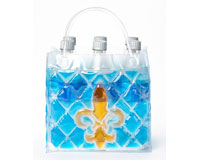 The Cool Sack - Fleur De Lis 6Pk - Blue & Gold CS9306