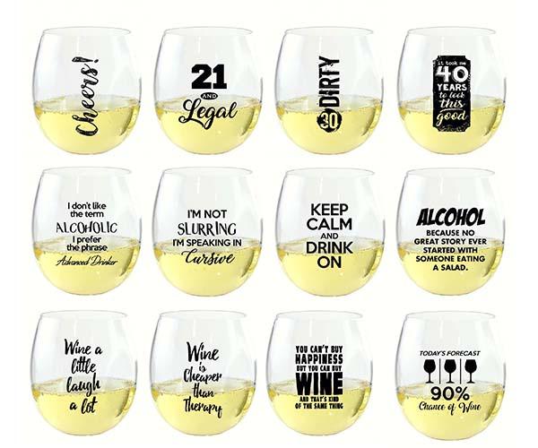 EverDrinkware Wine Tumbler Assortment (48 pieces)