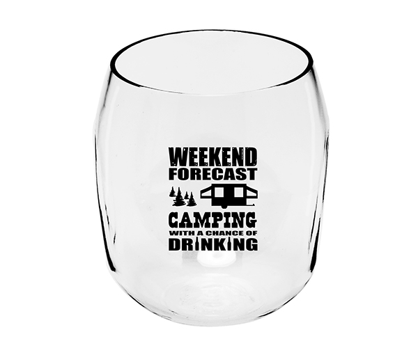 Camping Forecast EverDrinkware Wine Tumbler