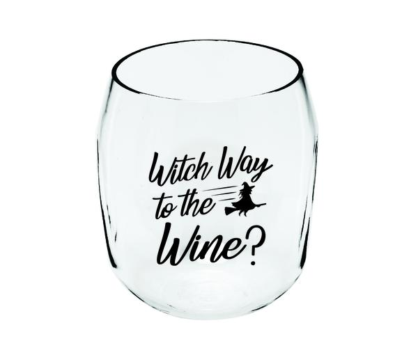 Witch Way Ever Drinkware Wine Tumbler