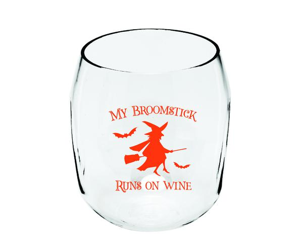My Broomstick Ever Drinkware Wine Tumbler