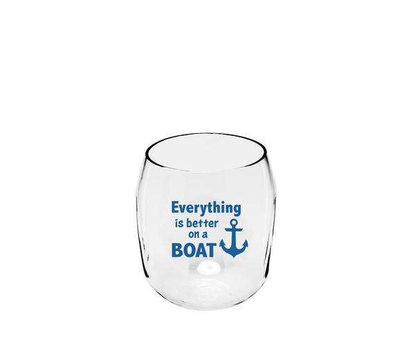 Everything is Better on a Boat Ever Drinkware Wine Tumbler