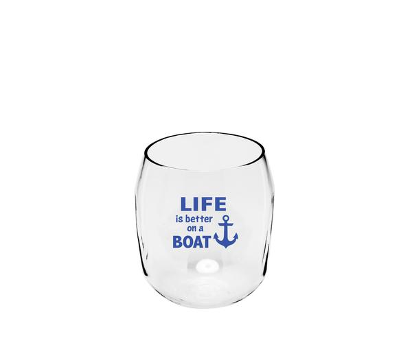 Life is better on a Boat Ever Drinkware Wine Tumbler