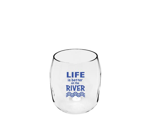 Life is Better on the River Everdrinkware Wine Tumbler