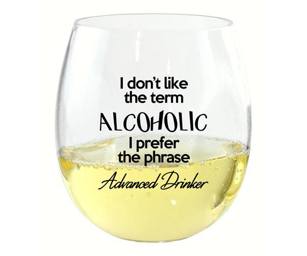 I Don't Like the Term EverDrinkware Wine Tumbler