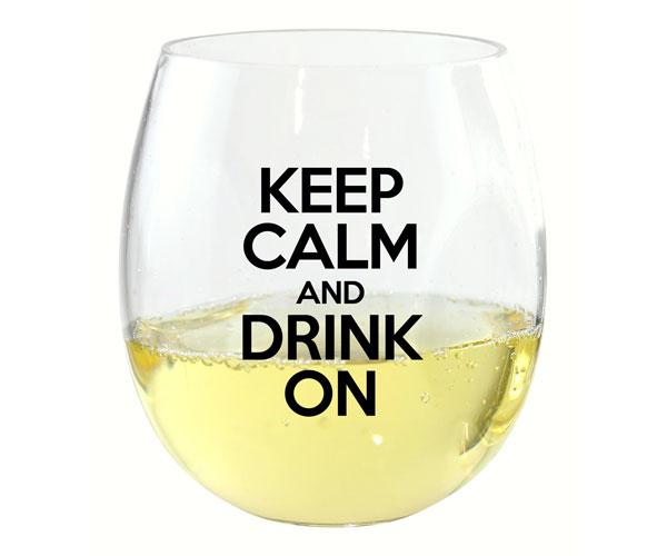 Keep Calm & Drink On EverDrinkware Wine Tumbler