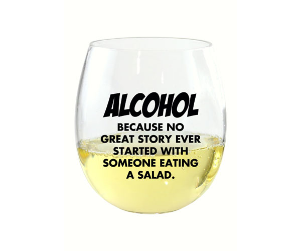 Because No Great Story EverDrinkware Wine Tumbler
