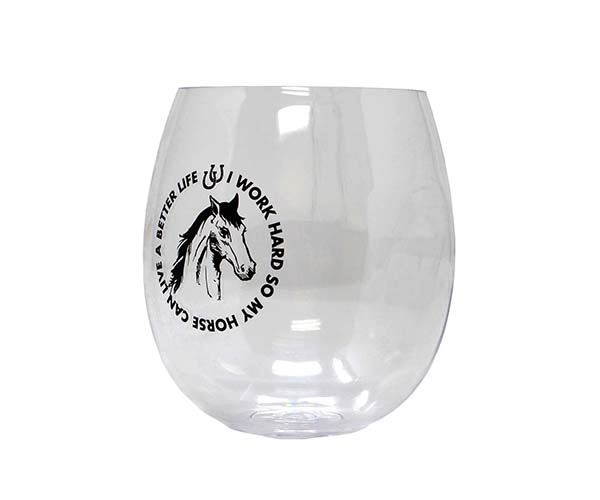 Horses Can EverDrinkware Wine Tumbler