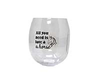Love & A Horse EverDrinkware Wine Tumbler-ED1001-H4