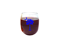 Blue Palmetto Tree Ever Drinkware Wine Tumbler ED1001-PTB