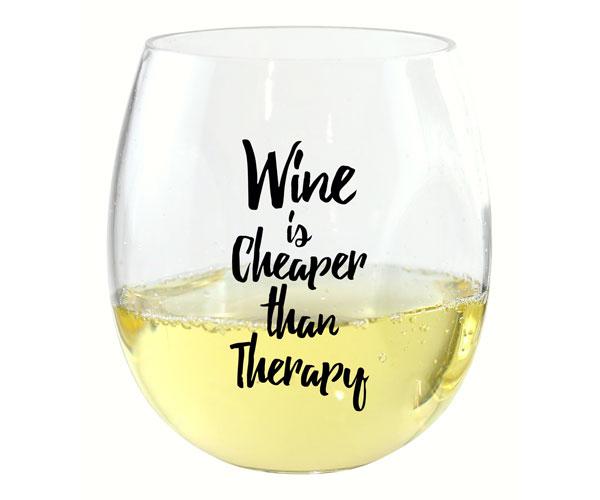 Wine is Cheaper EverDrinkware Wine Tumbler