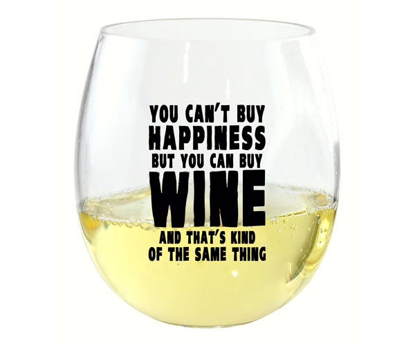 You Can't Buy Happiness EverDrinkware Wine Tumbler