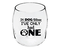 Dog Wines Paw Print EverDrinkware Wine Tumbler ED1001-W7
