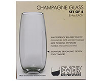 8.4oz Ever DrinkWare Champagne Glass 4pc Set-ED1002