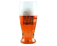 You Are Not Drinking Alone if the Cat is Home Ever Drinkware Beer Tumbler ED1003-D6