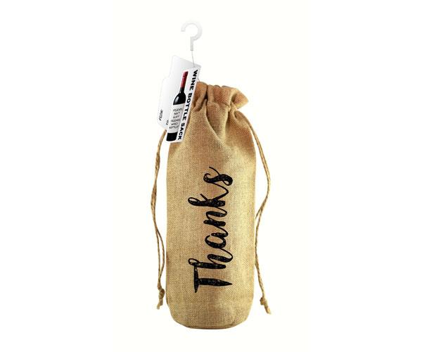 Thanks! Jute Wine Bottle Sack