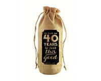 To Look This Good Jute Wine Bottle Sack-JB1009