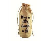 Wine a Little Jute Wine Bottle Sack-JB1020