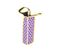 Neoprene Single Wine Bottle Tote - Purple & Yellow NP111
