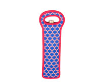 Neoprene Single Wine Bottle - Red & Blue-NP112