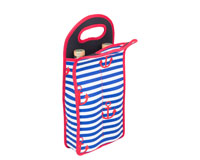 Neoprene Anchor Design Wine Bottle Tote (Holds 2 Bottles)-NP207
