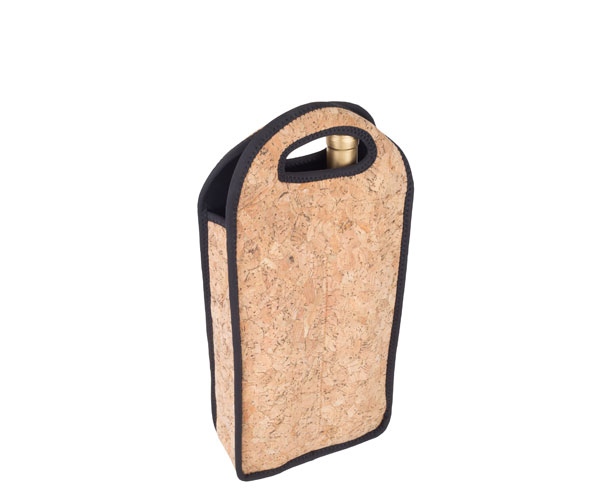Neoprene Cork Wine Bottle Tote (Holds 2 Bottles) NP213'