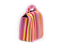 Neoprene 6-Pack Tote - Bright Stripes-NP301