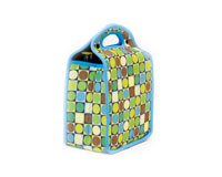 Neoprene 6-Pack Tote - Circles & Squares-NP304