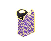 Neoprene 6 Pack Beer Tote - Purple & Yellow-NP311