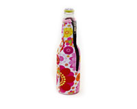 Neoprene Beer Bottle Jacket withZipper - Flower Power-NP403