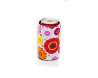 Neoprene Can Cooler - Flower Power-NP503
