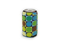 Neoprene Can Cooler - Circles & Squares-NP504
