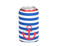 Neoprene Can Cooler - Stripes & Anchors-NP507
