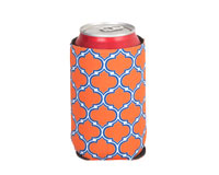 Neoprene Can Cooler - Orange & Blue-NP508