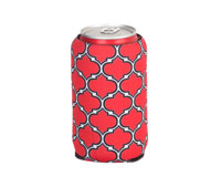 Neoprene Can Cooler - Black & Red-NP509