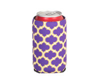 Neoprene Can Cooler - Purple & Yellow-NP511