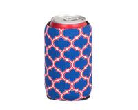 Neoprene Can Cooler - Blue & Red-NP512