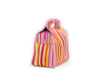 Neoprene Lunch Tote - Bright Stripes-NP701
