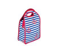 Neoprene Lunch Tote - Stripes & Anchors-NP707