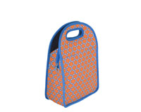 Neoprene Lunch Tote - Orange & Blue-NP708