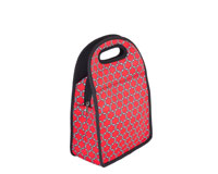 Neoprene Lunch Tote - Red & Black-NP709