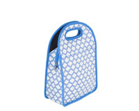 Neoprene Lunch Tote - Gray & Blue-NP710