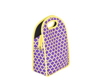 Neoprene Lunch Tote - Purple & Yellow-NP711