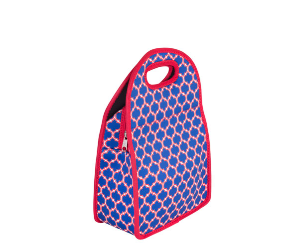 Neoprene Lunch Tote - Blue & Red