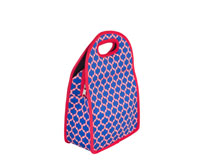 Neoprene Lunch Tote - Blue & Red-NP712